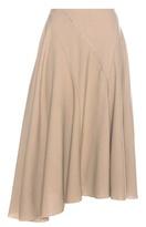 Nina Ricci Asymmetrical Pleated Wool Crêpe Skirt