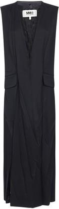 MM6 MAISON MARGIELA Crinkle Effect V-Neck Dress