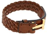 Tom Ford Woven T Leather Bracelet