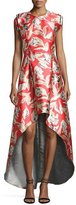 Sachin + Babi Masha Sleeveless High-Low Cocktail Dress, Goji Berry Red