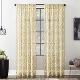 Sloane Scott Living 1-panel Trellis Textured Sheer Window Curtain