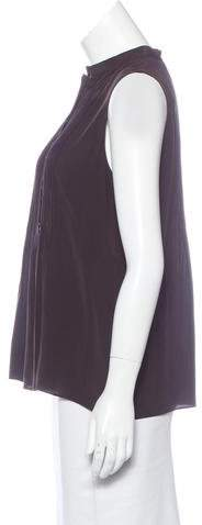 Akris Punto Pleated Silk Top