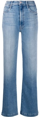 Mother slit bootcut jeans