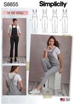 Simplicity Women's Jumpsuit Sewing Pattern, 8855, 6-22