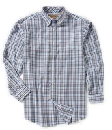 Roundtree & Yorke Gold Label Big & Tall Non-Iron Long-Sleeve Plaid Sportshirt