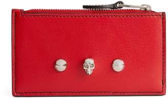 Alexander McQueen Skull Zip Card Holder
