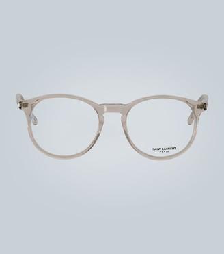 Saint Laurent Clear acetate glasses
