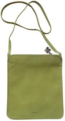 Lancel Green Leather Clutch bags