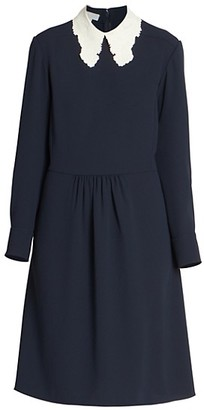 Chloé Lace Collar Shift Dress