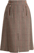 See by Chloe Hound's-tooth wool-blend A-line skirt