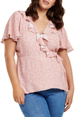 Forever New Curve Talia Curve Frill Wrap Top