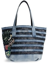 Marc Jacobs Denim Wingman Shopper - Blue