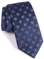 Armani Collezioni Square Medallion Silk Blend Tie