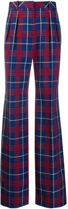 Mulberry Deborah tartan check trousers