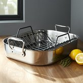 Crate & Barrel All-Clad ® Stainless Steel Roaster with Rack