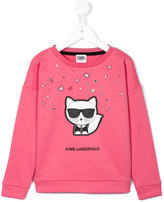 Karl Lagerfeld Choupette print sweatshirt