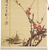 Oriental Furniture Sakura Blossom Bamboo Window Blinds