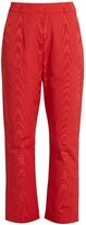 Isa Arfen High-rise faille cropped trousers