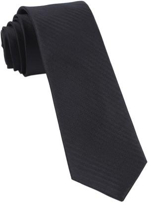 Tie Bar Sound Wave Herringbone Black Tie