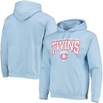 Stitches Men's Light Blue Minnesota Twins Team Logo Pullover Hoodie