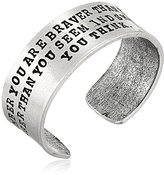 "Alisa Michelle Back To Basics"" Silver-Plated Stamped Cuff Bracelet"