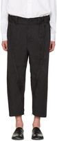 Issey Miyake Black Adjustable Silhouette Trousers