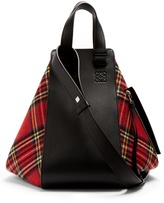 Loewe Hammock tartan and leather tote