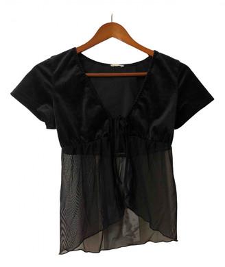 Brandy Melville Black Velvet Tops