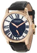 """Louis Erard Women's 92602OR02.BACs6 """"Emotion"""" 18k Rose Gold-Plated Automatic Watch with Black Leather Band"""
