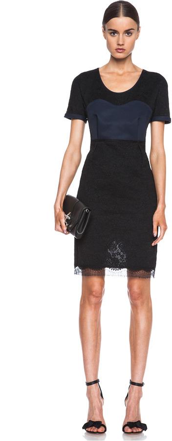 Sonia Rykiel Lace Knit Dress in Black