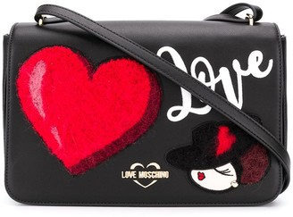 Love Moschino love patch messenger bag