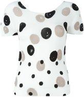 Issey Miyake dot print T-shirt - women - Polyester - One Size