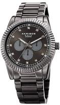 Akribos XXIV Men's Quartz Multi-Function Diamond Bracelet Watch - 0.06 ctw