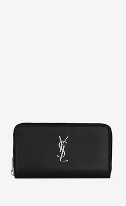 Saint Laurent Monogram Large Wallet In Smooth Leather Black Onesize