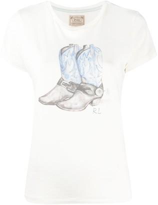 Polo Ralph Lauren cowboy boots print T-shirt