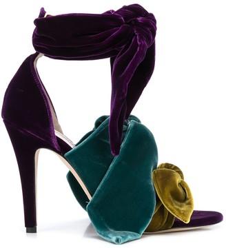 Silvia Tcherassi Bowie velvet sandals