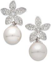 Nina Faux-Pearl Floral Drop Earrings
