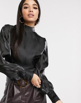 NA-KD Na Kd open back tie detail blouse