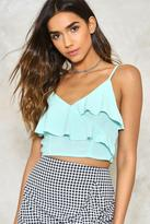 Nasty Gal Layer Eyes On This Ruffle Crop Top