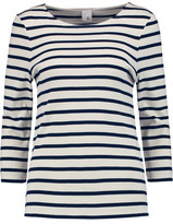 Iris and Ink Madeline Breton Striped Cotton Top