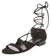 Thomas Wylde Coil Suede Lace-Up Sandal