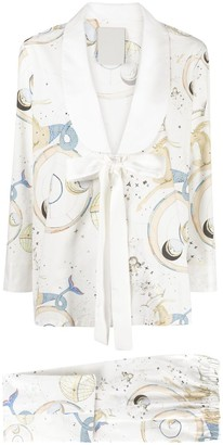 Seen Users Astrology-Motif Two-Piece Suit