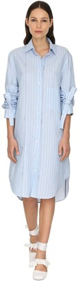 J.W.Anderson Striped Poplin Shirt Dress
