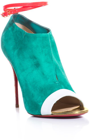 Christian Louboutin Diptic 100mm suede ankle boots