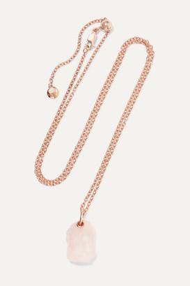 Monica Vinader + Caroline Issa Rose Gold Vermeil Quartz Necklace - one size