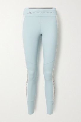 adidas by Stella McCartney Snake-print Stretch Leggings - Light blue