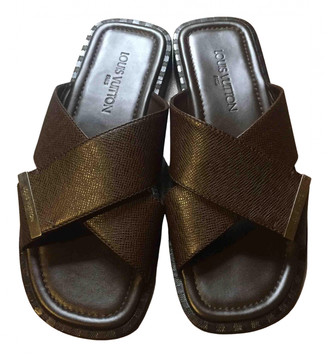 Louis Vuitton Brown Leather Sandals