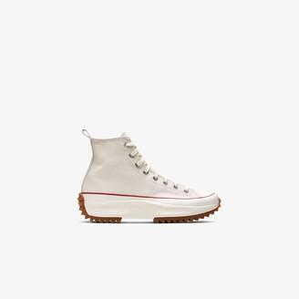 Converse White Neutral Run Star High Top Sneakers