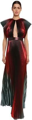 Givenchy PLEATED SILK LAME TAFFETA DRESS
