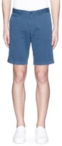 Altea Face patch gabardine Bermuda shorts
